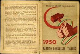 112 TESSERA PCI 1950 CON MOLTE MARCHE - Vecchi Documenti