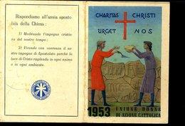 113 TESSERA UNIONE CATTOLICA DONNE 1953 - Vecchi Documenti