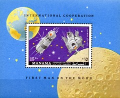 Manama Block   Mondforschung  **/MNH - Raumfahrt
