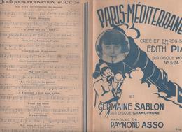Partition Paris-Méditerranée Edith Piaf - Partitions Musicales Anciennes