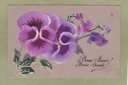 FLEUR  PENSEE  Matière Celluloïd Peinte - Flowers