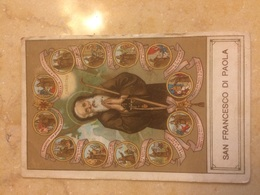 Antico Santino Primi Novecento San Francesco Di Paola - Devotion Images