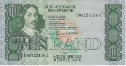 SOUTH AFRICA 10 RAND ND (1985) P-120d XF SIGN. DE KOCK S/N CM6723136c [ZA749d] - Afrique Du Sud