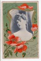 Cpa Carte Postale Ancienne  - Fantaisie Femme Relief Gaufrer 1905 - Femmes
