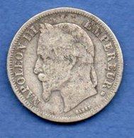Napoléon III --  2 Francs 1868 BB  -  état  B+  -  Rare - France