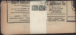 YT 107a Paire Verticale 1c Blanc Ardoise 2 Journaux Le Petit Montagnard Daguin Tarare Rhône 20 5 30 Cité Mousseline - Biglietto Postale