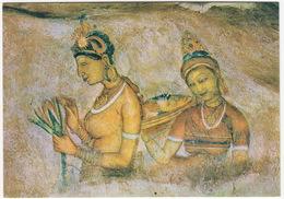 Fresco: 'Heavenly Maidens' Of Sigirya  - Fortress Of King Kasyapa I - Sri Lanka - Sri Lanka (Ceylon)