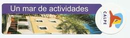 MARQUE PAGE - UN MAR DE ACTIVIDADES - REGLE DÉCIMETRE - TOURIST INFO PENON LONJA ALICANTE - Marque-Pages