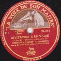 78 Trs - 30 Cm - Etat TB - INVITATION A LA VALSE -  ORCHESTRE SYMPHONIQUE DE PHILADELPHIE  1re Et 2e Parties - 78 T - Disques Pour Gramophone