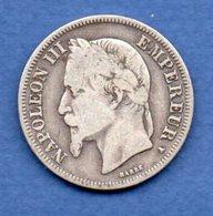 Napoléon III --  2 Francs 1868 A  -  état  TB  - - I. 2 Franchi