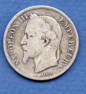 Napoléon III --  2 Francs 1866 BB -  état  B + - - France
