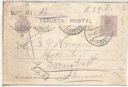 ESPAÑA ENTERO POSTAL ALFONSO XIII VIGO A DARMSTADT - 1850-1931