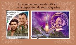 GUINEA 2018 - Yuri Gagarin, Che Guevara S/S. Official Issue - Celebrità