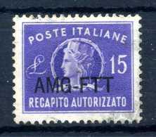 1949-52 AMG-FTT REC. AUT. N.4 USATO - Paketmarken/Konzessionen