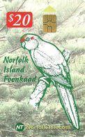 NORFOLK ISLAND $20 PARROT BIRD BIRDS CHIP 1ST ISSUE READ DESCRIPTION CAREFULLY !! - Ile Norfolk