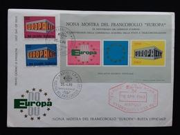 REPUBBLICA - Europa CEPT 1969 Con Foglietto Ricordo Ufficiale Su F.D.C. + Spese Postali - 6. 1946-.. Repubblica