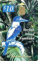 NORFOLK ISLAND $10 KIMGFISHER BIRD BIRDS CHIP 1ST ISSUE READ DESCRIPTION CAREFULLY !! - Ile Norfolk