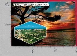 CARTOLINA VG ITALIA - Saluti Da ALBA ADRIATICA (TERAMO) - Tramonto - 10 X 15 - ANN. 1971 - Saluti Da.../ Gruss Aus...