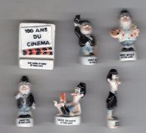 Série 6/10 Fèves Brillantes LAUREL ET HARDY FETENT LES ROIS 100 Ans De Cinéma - PRIME 1996 - Characters