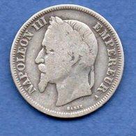 Napoléon III --  2 Francs 1866 A -  état  TB - - France