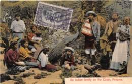Panama / Belle Oblitération - 51 - An Indian Family On The Coast - Panama