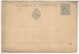 ESPAÑA ENTERO POSTAL ALFONSO XIII TARJETA RESPUESTA - 1850-1931