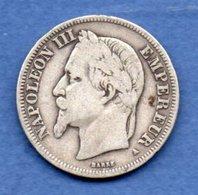 Napoléon III --  2 Francs 1867 A  -  état  TB - France