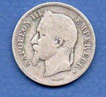 Napoléon III --  2 Francs 1867 BB  -  état  B+ - France