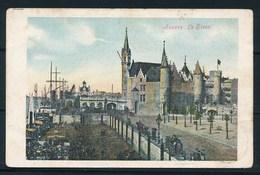 """ANTWERPEN (ref. CP Nr 106) - Het Steen - """"COUILLET""""  >  """"BRUXELLES-ARRIVÉE"""" - 13-02-1908 - Antwerpen"""