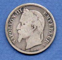 Napoléon III --  2 Francs 1868 A  -  état  B+ - France