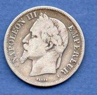 Napoléon III --  2 Francs 1869 A  -  état TB - France