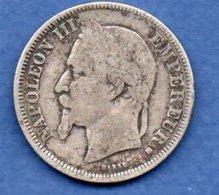 Napoléon III --  2 Francs 1869 BB  -  état B+ - France