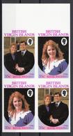 British Virgin Islands 1986 Sc. 537-538 Wedding Prince Andrew And Sarah Ferguson Sheet Imperf. Nuovo - British Virgin Islands