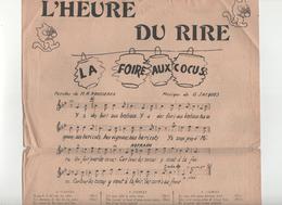 Partitions L' Heure Du Rire La Foire Aux Cocus...M.R. Rousseaux - Partitions Musicales Anciennes