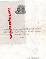 79- PARTHENAY- RARE FAIRE PART DECES MME BODIN NEE HENRIETTE PAVIN-1846- ARMAND BODIN MEDECIN-MERCIER DE LHERAUDIERE - Décès