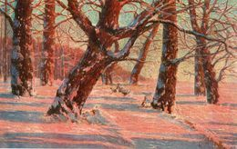 CP Fantasie - Carte En Bois - Paysage - In Hout - Landschap - Cartes Postales