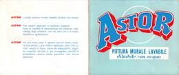 """08855 """"CARONNO PERTUSELLA (Va) - ASTOR - PITTURA MURALE LAVABILE - ANNI '50"""" CARTELLO COLORI - Pubblicitari"""