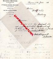 67- HAGUENAU- RARE LETTRE EUGENE RENNER- SCHILTIGHEIM GRANDE BRASSERIE ALSACIENNE ADELSHOFFEN-1938 - Old Professions