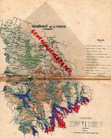 86- POITIERS-MONTMORILLON-CHATELLERAULT-MIREBEAU-VIVONNE-ISLE JOURDAIN-MONCONTOUR LOUDUN- RARE CARTE VIENNE GEOLOGIE- - Geographical Maps