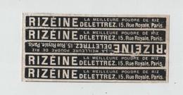 Rizéine Poudre De Riz Delettrez Rue Royale Paris - Publicités