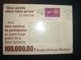 LETTRE TP EUROPA 0,30 OBL.MEC.17-9 1968 PARIS 07 BOTTIN  + FABLES DE LA FONTAINE - Unclassified