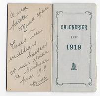 ANCIEN CALENDRIER DE POCHE - 1919 - Avec Message Pour La Bonne Année - Paysage Campagnard - Moutons - Calendars