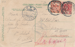 232/27 - EGYPT / CEYLON - Viewcard With MIXED Franking PORT TAUFIQ 1921 To SABANG Netherlands Indies - Égypte