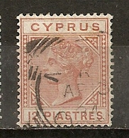 Chypre Cyprus 1882 Queen Victoria 12 P Obl - Chypre (République)