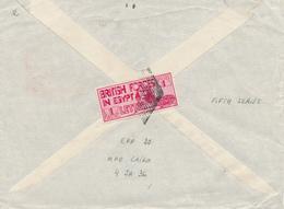 234/27 - EGYPT BRITISH FORCES - Sphinx Stamp 1 Pi. Carmine (5th Series) M.P.O. CAIRO 1936 +  E.P.P. 20 To LEICESTER - Égypte