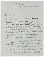 André CHEVRILLON - Lettre Autographe Signée St-Cloud 25 Décembre 1909 3 Pages In-8 - Autographs