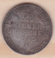 Royaume De Prusse 2½ Silber Groschen 1843 A - Friedrich Wilhelm IV , KM# 444 - Small Coins & Other Subdivisions