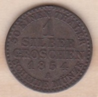 Royaume De Prusse  1 Silber Groschen 1854 A - Friedrich Wilhelm IV , KM# 462 - Small Coins & Other Subdivisions