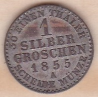 Royaume De Prusse  1 Silber Groschen 1855 A - Friedrich Wilhelm IV , KM# 462 - Small Coins & Other Subdivisions