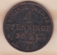 Royaume De Prusse, 4 Pfenninge 1851 A - Friedrich Wilhelm IV, KM# 454 - Small Coins & Other Subdivisions